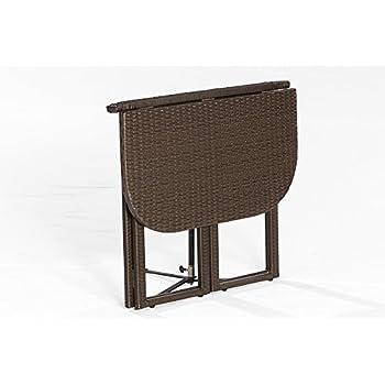 Klapptisch balkon halbrund  Amazon.de: Balkon - Klapptisch GRAZ 90x50cm, Stahlgestell + ...