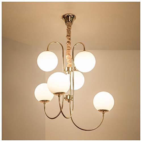 Shirley Home Chandelie Moderne Glaskugel LED Kronleuchter Wohnzimmer Esszimmer Schlafzimmer Kinderzimmer Bar Café E27 Lichtquelle Tricolor Licht Innenbeleuchtung Deckenbeleuchtung -
