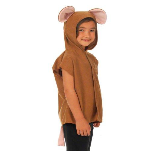ow Maus Kostüm für Kinder - Braun - Einheitsgröße 3-8 Jahre. ()