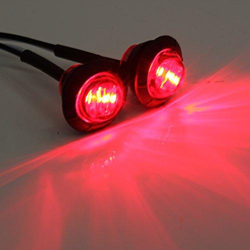 Preisvergleich Produktbild THG LED Markierungsleuchte rund rot DC12V IP65,  4 Stück