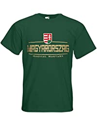 Ungarn Magyarország Fanshirt T-Shirt Länder-Shirt im modernen Look