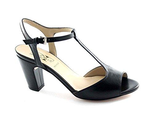 DIVINE FOLLIE 400602 nero sandali donna charleston donna tacco Nero