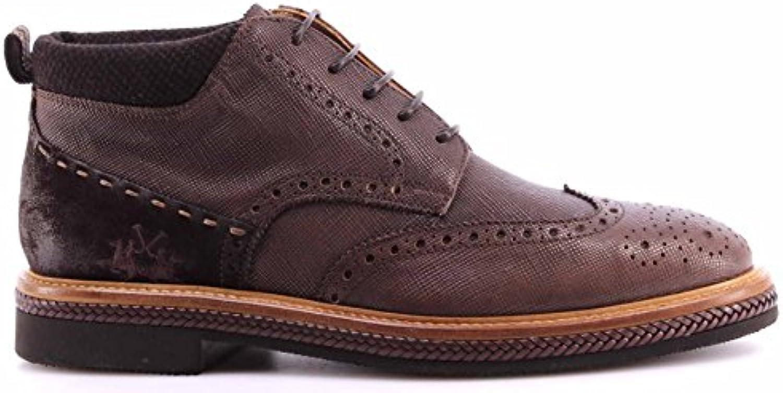 Zapatos Hombre Botines LA Martina L2026174 Lord Moka Cuero Ankle Boots Italy New