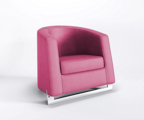 Ruhesessel NOBLE A Clubsessel Relaxsessel Loungesessel Kunstleder VALENCIA, Farbe:V2021 - Pink