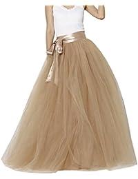Amazon.it  gonna tulle - Marrone   Donna  Abbigliamento 1742ba14403