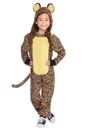 Leopard Kids Fancy Dress Safari Zoo Animal Book Day Girls Boys Childs Costume (Age 6-8 (Für Kinder Safari Outfit)