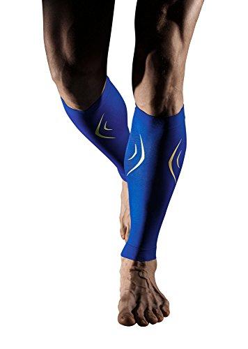 +md fascia a compressione per polpacci per tendinite, dolore muscolare polpacci - uomini, donne, e runners - protegge muscoli di polpacci per corsa, ciclismo, maternità, viaggi, infermieri bluexl