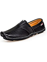 Times New Roman Fashion Style Soft Moccasins Men Loafers Leather Shoes
