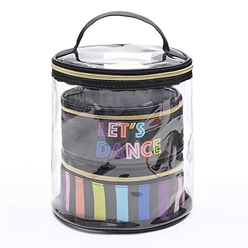 Tasquite Schminkkoffer Kosmetiktasche Make-up Tasche Waschtasche Wasserdichte Toilettenartikel Reiseset Make up Organizer 3 in 1 Kulturtasche für Handgepäck auf der Reise