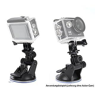 Photecs® Universal Saugnapf-Halterung für Dashcam Action-Cam (z.B. GoPro Hero) etc. an der Auto-Windschutzscheibe, KFZ, etc.