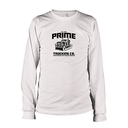 Texlab Prime Trucking Langarm, T-Shirt Uomo, Bianco, S