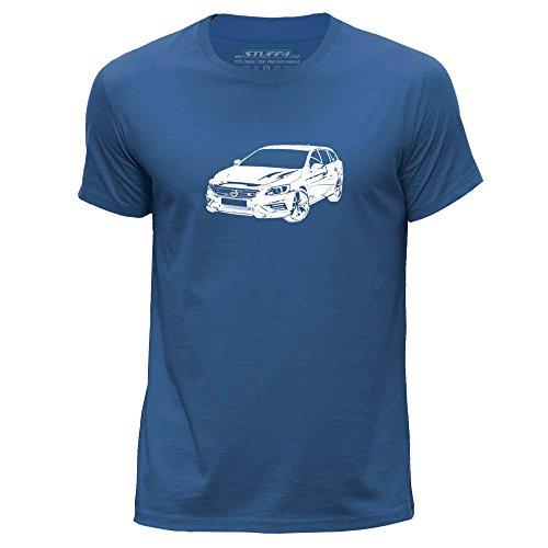 Preisvergleich Produktbild STUFF4 Herren/Mittel (M)/Königsblau/Rundhals T-Shirt/Schablone Auto-Kunst / V60 T6