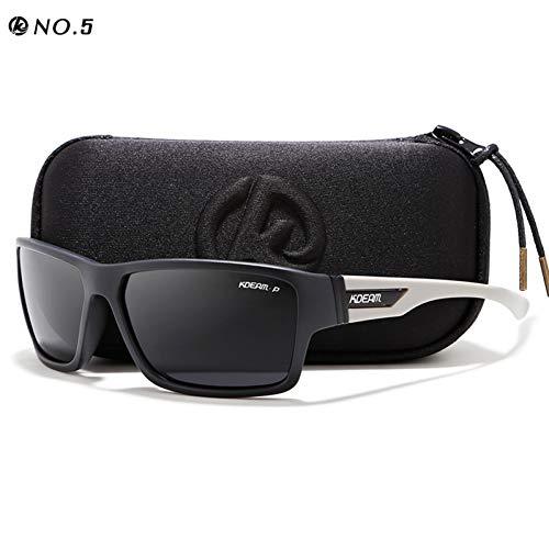 Taiyangcheng Outdoor Polarisierte Sonnenbrille Brille Männer Sonnenbrille 100% Uv Reißverschluss Fall Sport Eyewear,C5,Hard Case