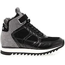 Cesare Paciotti 4Us Hi Top Sneakers Donna FD9BLACK Camoscio Nero f9a0ce7b764