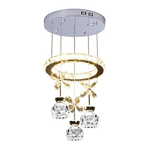 You Hao Restaurant Kronleuchter DREI Moderne Minimalistische Kreative Persönlichkeit LED Kristall Lampe Runder Tisch Esszimmer Hängelampe Home - Durchmesser 30X Hohe 100 cm / 40 × 100 cm /@@/ (Cut Glas-deckenleuchte)