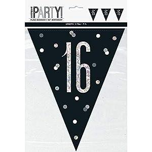 Unique Party- Bandera, Color black & silver (83423)