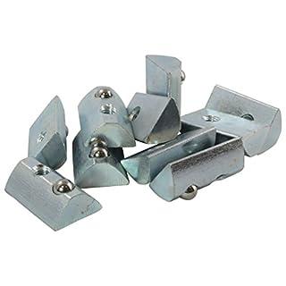 100x Nutenstein 8 St Nut 8 - Typ I - M8 ohne Steg, Federkugel, Stahl verzinkt