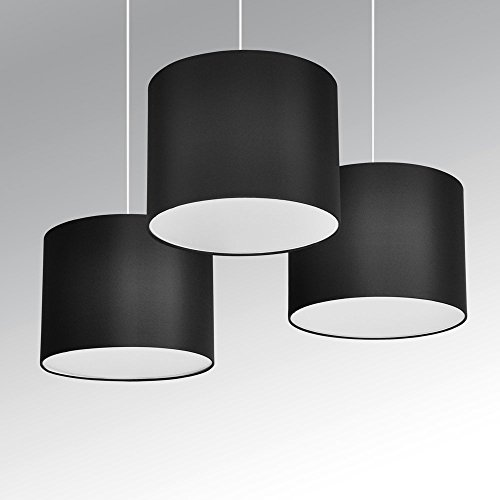 minisun-set-of-3-modern-black-drum-pendant-ceiling-light-shades-with-diffusers