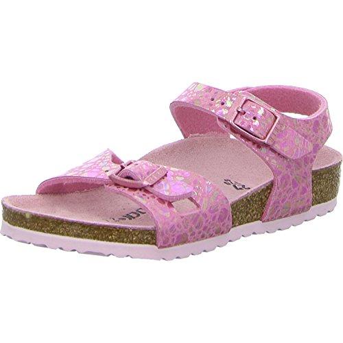 BIRKENSTOCK Rio Kids MF Kinder Sandale Größe 36 Metallic Stones Pink (Birkenstocks Größe 36)