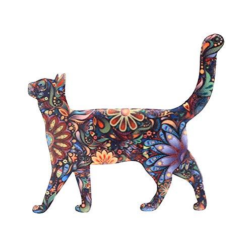 Skyeye Katze Ölgemälde Brosche Knopfbroschen Schals Schnallen Pins Schmuck Broschen Anstecknadel Kleidung Party Dekoration