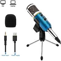 ARCHEER Micrófono PC, Micrófono Condensador USB de Computadora con Soporte Trípode,Ideal para Grabación Vocal, Podcasting, Video de Youtube,Skype,para Laptop Desktop iMac PC