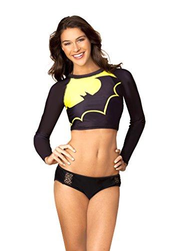 dc-comic-batman-crop-rash-guard-long-sleeve-shirt-swimwear-small