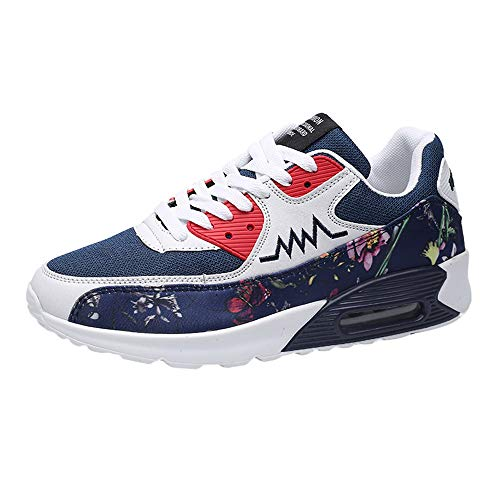 Sneakers Homme Pas Cher ELECTRI Chaussures Baskets RayéEs Fashion Plates Blanches Running Sneakers Course Multisports Outdoor Comfortable AntidéRapant Walking Shoes