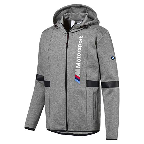 PUMA BMW Motorsport Herren Kapuzenjacke Medium Gray Heather L