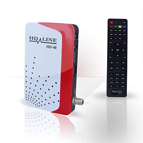 Mini Digitaler Sat Receiver HD LINE hd-80 IP TV FTA Xtream-Codes Mit La Anschluss hdmi (HDTV, DVB-S2, HDMI, AV, PVR-Ready, USB 2.0) schwarz …