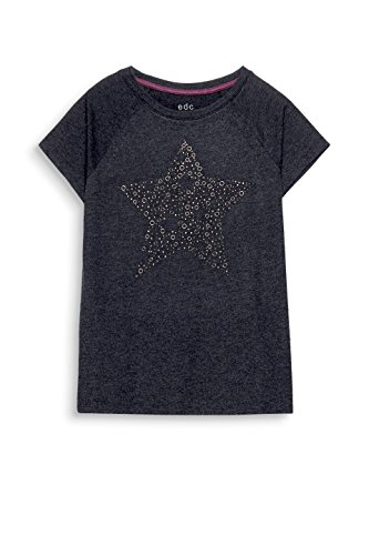edc by ESPRIT Damen T-Shirt Grau (Anthracite 5 014)