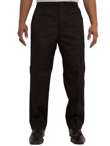 Pantalon Hommes Carabou Élégant Rugby Avec Taille Élastique Et Cordon Taille 42-70 Noir