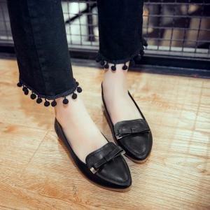 Noir Chaussures Hexiajia Femme À Lacets xUwaZ8