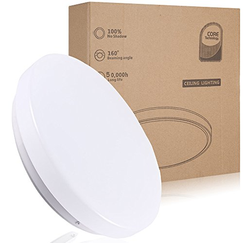 12W  LED Flush Mount Ceiling Light,Waterproof IP44,10 inch/Ø 26cm,950 LM, Fitting Lighting for Living Room, Bathroom, Bedroom, and Dining Room with 4000k Color Temperature ( White )
