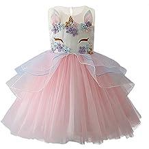 7c12415d7 yeesn Vestido de Unicornio de Las Muchachas Vestido de Tul de tutú