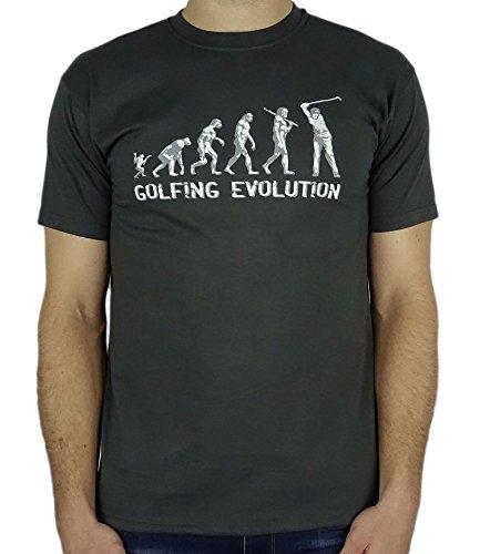 My Generation Gifts Golf Evolution - Cadeau d'anniversaire drôle/Présent T-Shirt Gris Charbon 2XL