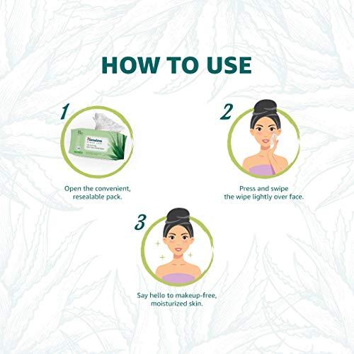 Himalaya Moisturising Aloe Vera Facial Wipes, 25 Count (Pack Of 2)