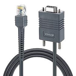 VIMVIP 6ft USB Cable for Symbol LS1203 LS2208 LS4208 LS9203 LS9208 LS7808 LS7708 DS6708 DS6708 LS3008 LS3408 RJ45 to DB9 Female Bar Code Scanner Serial Cable