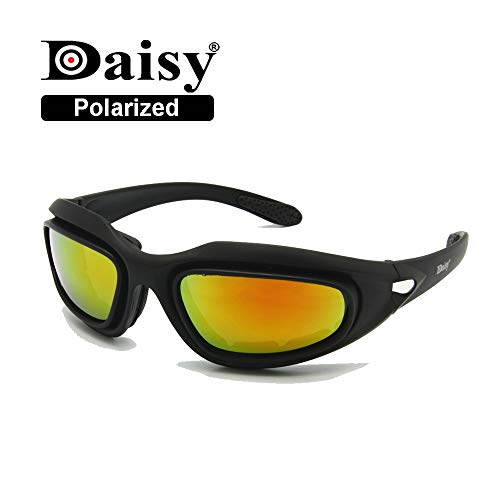 EnzoDate Daisy One C5 Militär Dirt Bike ATV Brille Polarisierte 4 Objektiv Kit Outdoor Sports Motorrad Brille War Game Army Sonnenbrille