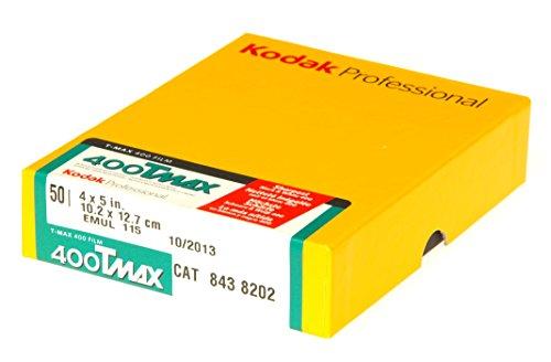 Kodak T-Max 400 10,2 (4 Zoll) x 12,7 cm (5 Zoll) Schwarz-/Weiß Negativ-Filme (50 Blatt) (5 Schwarze Und Weiße 400 Film)