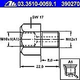 ATE 03.3510-0059.1 Adapter, Bremsleitung
