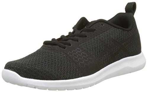 Asics Kanmei, Zapatillas de Running Mujer, Negro (Black/Black/White), 36 EU