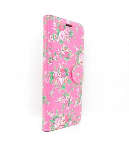 Samsung Galaxy S8Plus Fall Geldbörse-Hot Pink Classic Antique Rose Blumen-Zubehör für Handys von Oliviasphones -