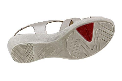 Scarpe donna comfort pelle Piesanto 6558 sandali casual comfort larghezza speciale Titanio