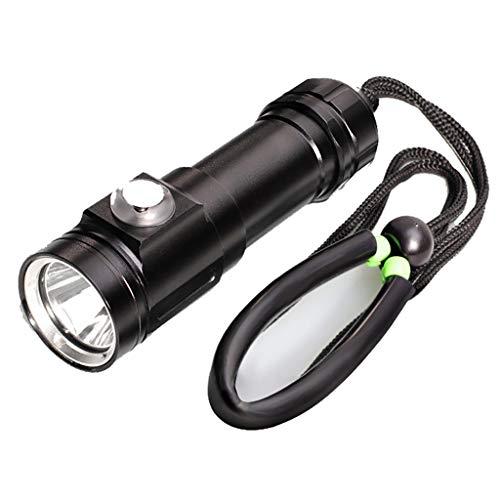 Momola XM-L2 T6 LED Tauchlampe Unterwasser Wasserdichte Taschenlampe Dive Lamp,720 Lumen IPX8 Underwater 80m Tauchtaschenlampe 16x5x5cm Underwater Strobe Flash