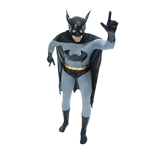Zoelibat 97216545.006.L - Speedsuit Batman The Dark Knight - Unisex Ganzkörperanzug Bodysuit Catsuit, (Spiderman Skin Second Kostüm)