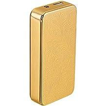 COOSA Flor Rich Moda Patrón Ultra Thin USB cigarrillo recargable a prueba de viento Mechero Electrónico (Oro)