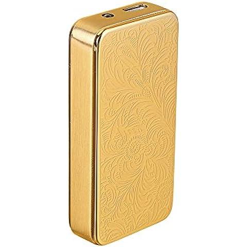 COOSA Flor Rich Moda Patrón Ultra Thin USB cigarrillo recargable a prueba de viento Mechero Electrónico