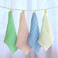 Alivier - Toallitas de algodón orgánico para bebé, Extra Suaves, absorbentes, Amarillo,