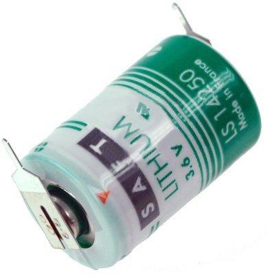 Saft Lithium 3,6V Pile LS14250 1/2AA - Zelle 1/1 pin +/-