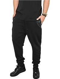 Urban Classics Herren Hosen Side Zip Leather Pocket Sweatpant